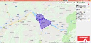 Vykreslenie zóny na mape
