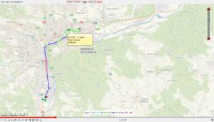 Zobrazenie jázd vozidla v mape