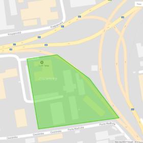 Detailné zobrazenie zóny na mapách Google